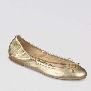 Sam Edelman Felicia Ballet Flats Gold Size 6
